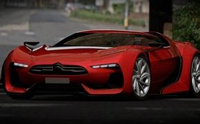 Picture Concept, Citroen, Red, Gran Turismo, SuperCar