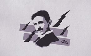 Picture man, scientist, Nicola Tesla