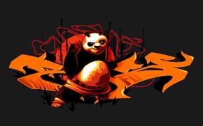 Picture style, cartoon, graffiti, vector, abstract, Panda, graffiti, sea, illustration, lettering, rase, graphic, kung fu, type, …