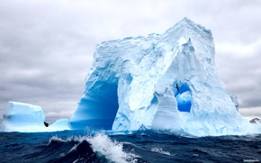 Picture sea, iceberg, krasibo