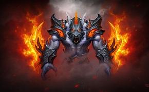 Picture fire, helmet, armor, dota 2, Ursa, Ulfsaar