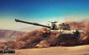 Picture Game, Art, World of Tanks, Wargaming, FuriousGFX, M48A1 Patton