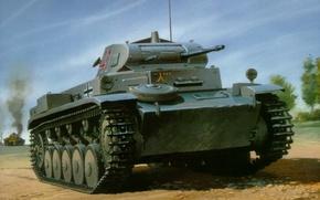 Picture figure, tank, The second world war, German, easy, Ausf C, Panzerkampfwagen II, Pz.Kpfw II