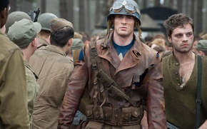 Picture weapons, fiction, glasses, jacket, soldiers, helmet, comic, Captain America, Chris Evans, The first avenger, Chris …