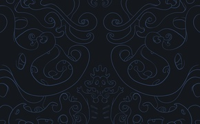 Wallpaper curves, Squiggles, blue