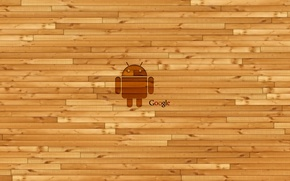 Wallpaper wall, logo, Google, Android, android, wooden, Google