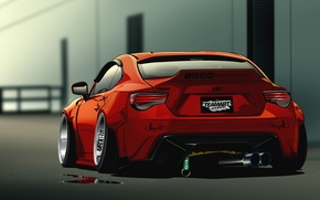 Picture rear, Scion, Vector, red, FR-S