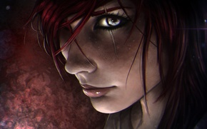 Picture girl, face, scar, lol, League of Legends, katarina