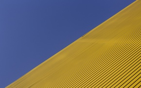 Picture blue, yellow, diagonal