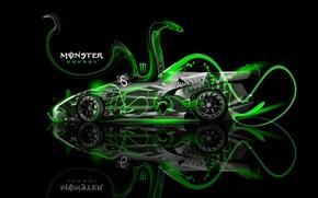Picture Roadster, Auto, Lamborghini, Neon, Green, Fantasy, Fantasy, Photoshop, Green, Plastic, Neon, Monster Energy, Lamborghini, Roadster, …