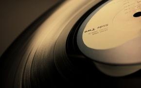Wallpaper record, vinyl, music
