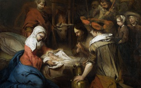 Picture picture, religion, myth, Fabricius, Barent, The Adoration Of The Shepherds