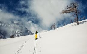 Picture snow, sport, ski, mountain