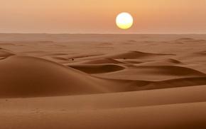 Picture sand, the sun, desert, horizon