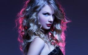 Picture look, curls, singer, Taylor Swift, Swift Taylor, Taylor Alison Swift