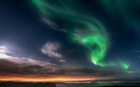 Picture the sky, landscape, lights, cloud