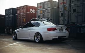 Picture white, BMW, road.