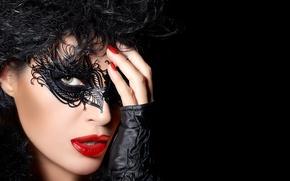 Picture woman, beautiful, mask, makeup