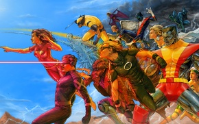 Picture heroes, storm, mutants, x-men, wolverine, marvel, comic, marvel, x-men, jean grey, colossus, nightcrawler, beast, comix, …