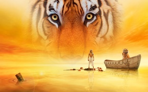 Picture water, tiger, the film, Life Of PI, Life of Pi