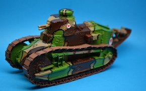Picture toy, tank, Reno, serial, first, model, easy, The first world war, FT-17