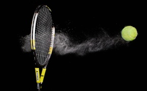 Picture sport, the ball, racket
