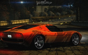 Picture Park, orange, Need for speed world, Lamborghini Miura Concept