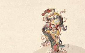 Picture dragon, art, male