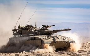 Picture Israel, Merkava, combat, sand, tank, field, Merkava, main