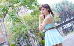 Picture summer, look, girl, face, dress, Asian