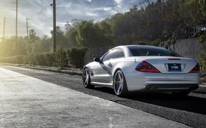 Picture silver, silver, Mercedes, wheels, Mercedes, SL65, Benz, metellik