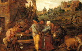 Picture picture, genre, Adrian Brower, Peasant Fight