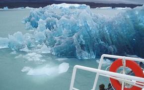 Wallpaper ship, round, iceberg, Ice