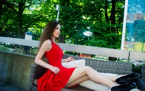 Wallpaper Nikita Shvedov, trees, Nikita Shvedov, legs, photography, girl, photographer, girl, photographer, dress
