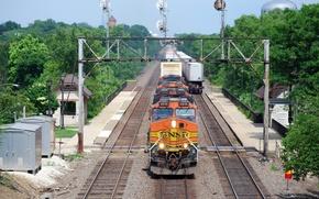 Wallpaper rails, station, composition
