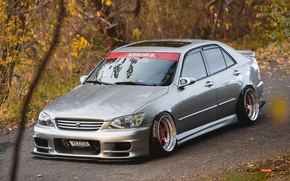 Picture turbo, lexus, wheels, japan, toyota, jdm, tuning, Lexus, front, Toyota, face, low, height, is200, stance, …