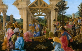 Picture picture, mythology, Sandro Botticelli, The Adoration Of The Magi