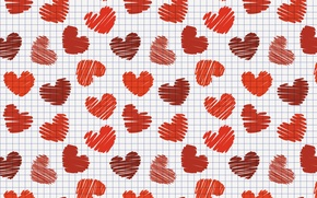 Wallpaper hearts, valentines day, Valentine's day, cells, heart