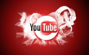 Picture red, background, headphones, youtube, cell