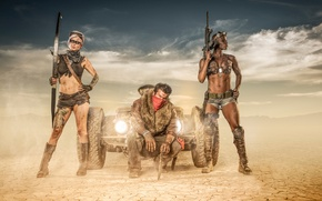 Picture desert, art, warriors, Desert Warriors