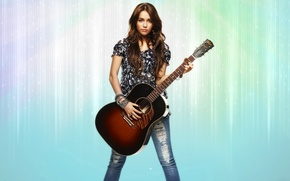 Picture Girl, Guitar, Hair, Decoration