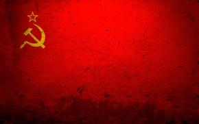 Wallpaper red, flag, USSR