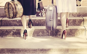 Picture retro, shoes, heels, vintage