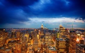 Picture the city, view, New York, the evening, panorama, USA, USA, Manhattan, Manhattan, NYC, New York …