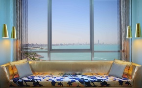 Picture design, style, room, interior, window, megapolis, view, room