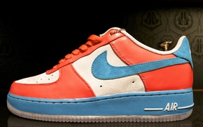 Picture red, blue, Air Force, Nike