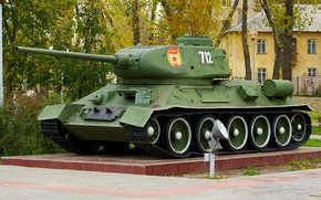 "Picture weapons, monument, tank, ""Ural"", t-34-85"
