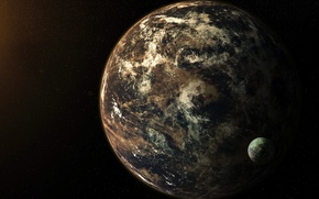 Picture space, planet, satellite, stars