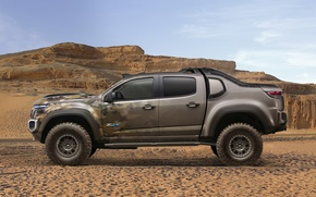 Picture car, Chevrolet, wallpaper, desert, power, sand, truck, strong, official wallpaper, technology, camouflage, suna, bold lines, …