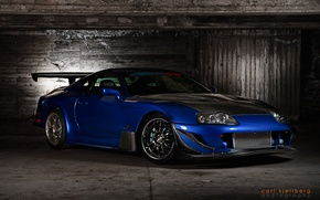 Picture blue, tuning, sports car, twilight, tuning, great car, Toyota Supra, beautiful color, Toyota Supra